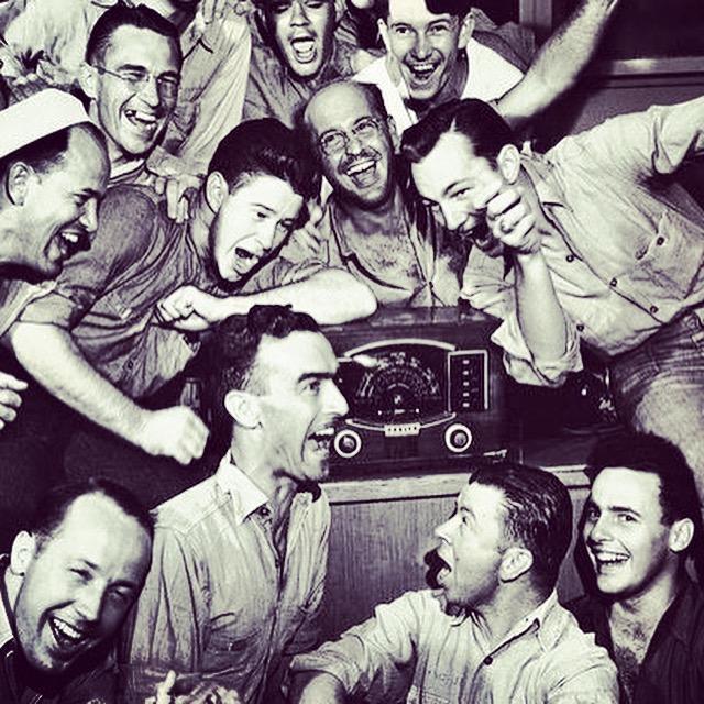 people listening to the radio